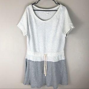 Victoria's Secret grey two tone knit short dress L